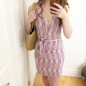 100% Silk Diane Von Furstenberg Jude Wrap Dress 4